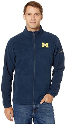 Columbia College Michigan Wolverines CLG Flankertm III Fleece Jacket (Collegiate Navy) Men's Coat