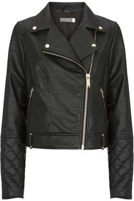 Mint Velvet Black Faux Leather Jacket