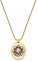 Charter Club Gold-Tone Crystal Pendant Necklace, Only at Macy's