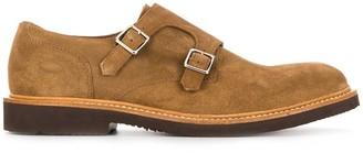 Eleventy Suede Monk Shoes