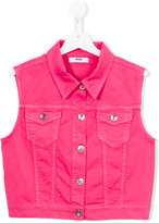 MSGM denim gilet - kids - Cotton/Spandex/Elastane - 14 yrs