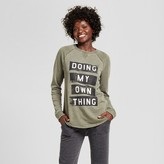 Xhilaration Women's Doing My Own Thing Pullover Sweatshirt