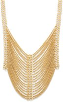 Steve Madden Multi Row Draped Chain Statement Necklace