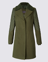 M&S Collection Hybrid Sleeve Coat