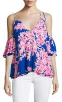Lilly Pulitzer Bellamie Floral Print Top
