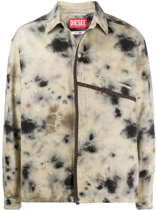 A-Cold-Wall* x Diesel Red Tag stain-print lightweight jackets