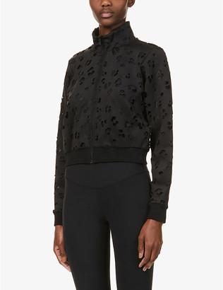 Good American Scuba Crop high-neck stretch-woven jacket