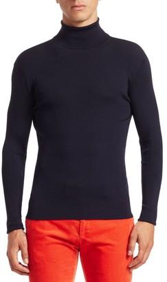 Ralph Lauren Purple Label RLX Wool Ribbed Knit Turtleneck