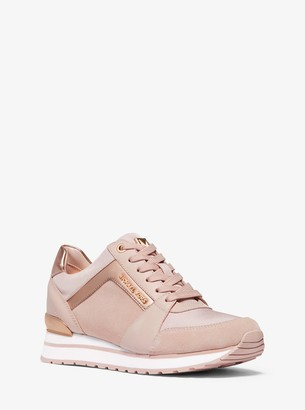MICHAEL Michael Kors Billie Leather and Canvas Trainer