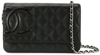 Chanel Pre Owned Cambon line chain shoulder wallet bag