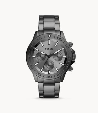 Fossil Bannon Multifunction Smoke Stainless Steel Watch jewelry
