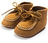 Binmer(TM) New Baby Crib High Help Bandage Shoes Toddler Sneakers Casual Non-slip Shoes (12-18M, Coffee)