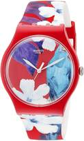 Swatch Women's SUOR105 Mister Parrot Red Silicone Watch