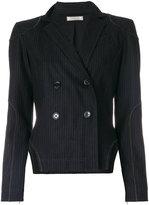 Nina Ricci cut-out pinstripe blazer - women - Silk/Spandex/Elastane/Wool - 38