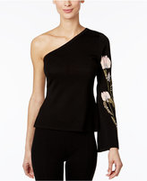 INC International Concepts Embellished One-Shoulder Sweater, Only at Macy's