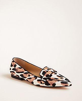 Ann Taylor Luann Haircalf Loafer Flats