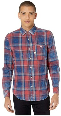 G Star G-Star Bristum One-Pocket Slim Shirt (Indigo/Antic Red Check) Men's Clothing
