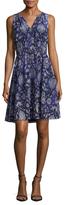 Rebecca Taylor Silk Printed Flare Dress
