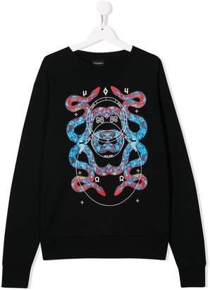 Marcelo Burlon County of Milan Kids TEEN snake print sweatshirt