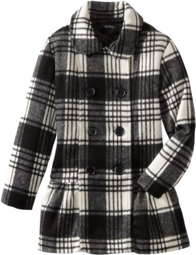 Amy Byer Girls 7-16 Plaid Double Breasted Coat