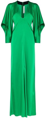 Victoria Beckham Satin Maxi Dress