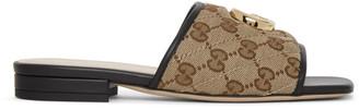 Gucci Beige GG Supreme Jolie Sandals