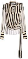 Monse Chiffon Silk Wrap Regalia Blouse