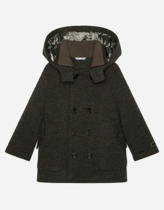 Dolce & Gabbana Double-Breasted Wool Coat With Hood
