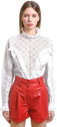Philosophy di Lorenzo Serafini Eyelet Lace & Poplin Shirt