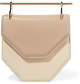 M2Malletier Amor Fati Two-tone Leather Shoulder Bag - Sand