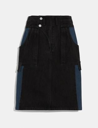 Coach Denim Skirt