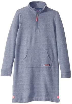 Vineyard Vines Kids Crew Neck Sweatshirt Dress (Toddler/Little Kids/Big Kids)