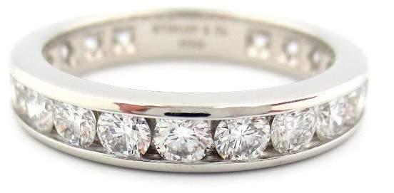Tiffany & Co. Platinum 1.89ct Diamond Band Ring Size 8