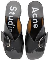 Acne Studios Leather Vikki Heels in Black.
