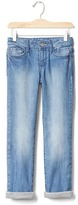 Gap 1969 Jersey-Lined Stretch Straight Jeans
