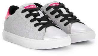Crime London Kids glittered low top sneakers