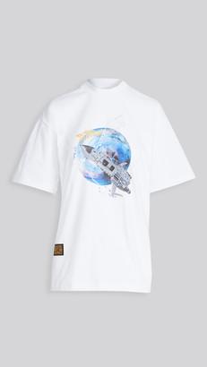 pushBUTTON Spacecraft Short Sleeved T-Shirt