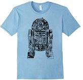 Star Wars Epic R2-D2 Panel Graphic T-Shirt