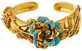 Jose & Maria Barrera Golden 3D Crystal Rose Bracelet