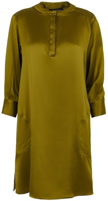 Lindsay Nicholas New York Shirt Dress In Chartreuse