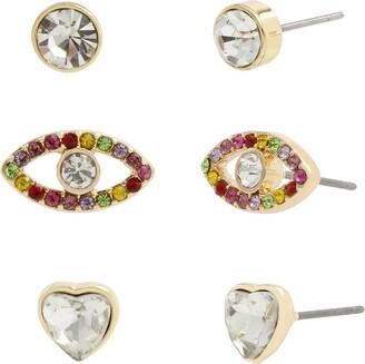 Jessica Simpson Evil Eye Trio Stud Earrings Set