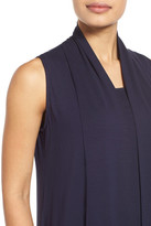Eileen Fisher Stand Collar Long Vest (Petite)