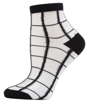 Me Moi Sheer Plaid Women's Anklet Socks