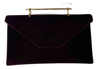 M2Malletier Burgundy Velvet Clutch bags