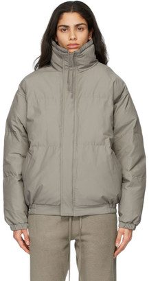 Essentials Taupe Nylon Puffer Jacket
