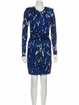Issa Printed Mini Dress Blue