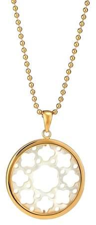 Asha Carlotta Mother-of-Pearl Long Pendant Necklace
