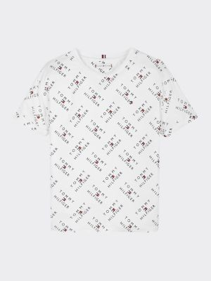 Tommy Hilfiger Logo Print Stretch Viscose T-Shirt