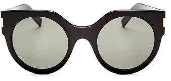 Saint Laurent Women's Slim Feminine Oversized Cat Eye Sunglasses, 50mm