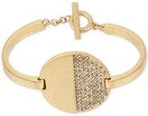 Kenneth Cole New York Gold-Tone Pavé Disc Toggle Bracelet